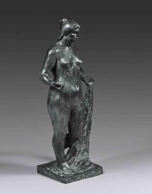 Pierre Auguste Renoir et Richard Guino, sculpture, vente aux enchères