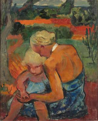 Willy Eisenschitz, mère et enfant, tableau