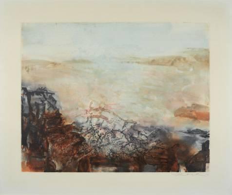 Zao Wou Ki, composition, gravure aux enchères