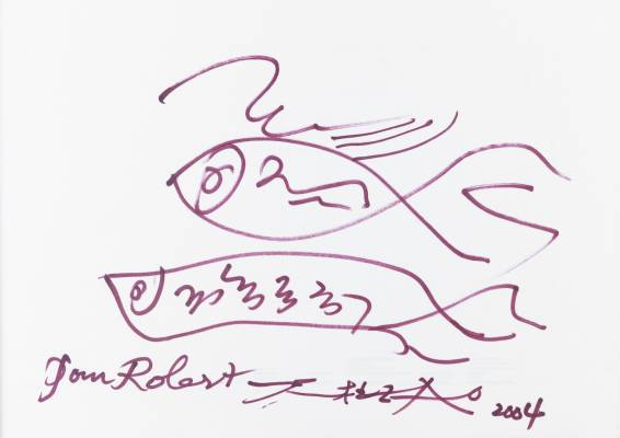 Zao Wou Ki, Poissons, dessin