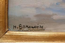 Henri Barnoin, entrée de port, tableau
