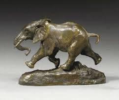 Antoine Louis Barye, éléphant du Sénégal 1880, bronze