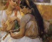 Frédéric Bridgman, femmes algériennes, tableau