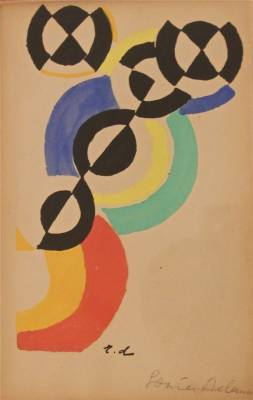 Sonia & Robert Delaunay, carton d'invitation, pochoir
