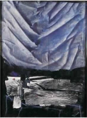 Antoni Clave, instrument sur fond bleu