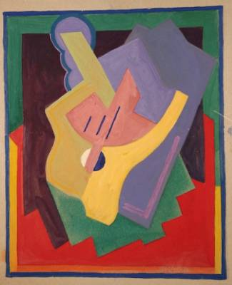 Albert Gleizes, composition, gouache