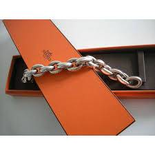 Hermes, bracelet gourmette en argent
