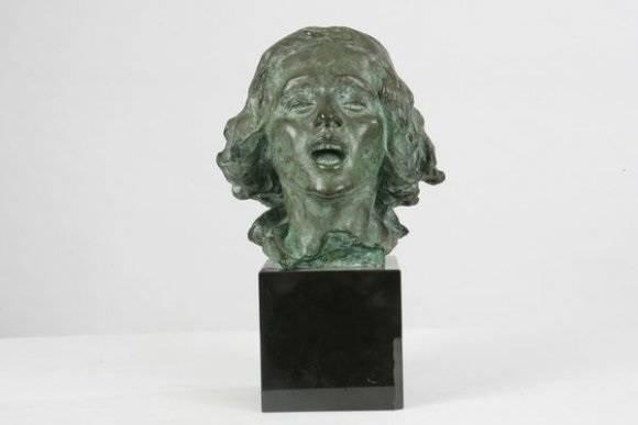 Jean Antoine Injalbert, La Pâtre chantant bronze