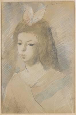 Marie Laurencin, jeune fille au noeud rose