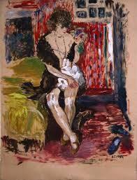 Marcel Leprin, jeune femme, dessin