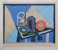 Pablo Picasso, nature morte à l'aubergine, lithographie