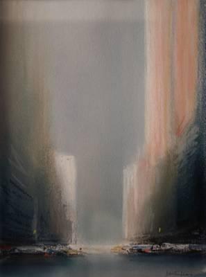 Pierre Doutreleau, New York Rose, pastel