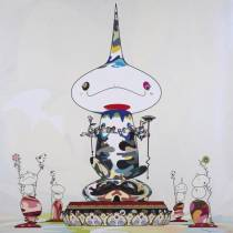 Takashi MURAKAMI - Reversed double Helix Mega Power, 2005 - Sérigraphie
