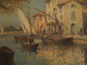 Henri Malfroy, Port de Martigues, vente aux enchères