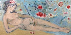 Marcel Vertes, femme allongée, vente aux enchères