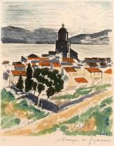 André Dunoyer de Segonzac, lithographie, Saint Tropez
