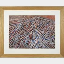 Jacques GERMAIN - Composition 1978, gouache sur papier