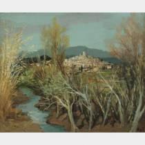 Marcel DYF (1899-1985) - Village de Biot - Huile sur toile