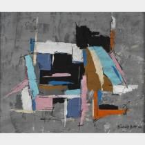 Francis BOTT (1904-1998) - Composition- Huile sur carton