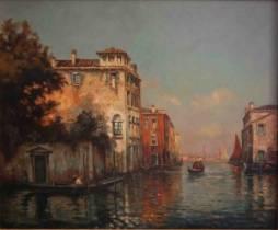 Georges Noel Bouvard, canal à Venise