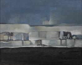 Abdelkader Guermaz, les arbres, tableau