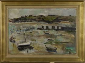 Albert Minguet, voiliers à marée basse