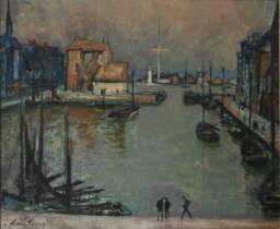 André Hambourg, le vieux bassin à Honfleur