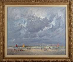 André Hambourg, à marée haute, Deauville