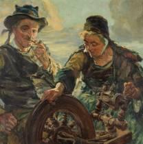 Arthur Midy, couple de bretons, tableau