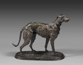 Arthur Waagen, chien, bronze
