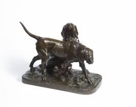 Auguste Cain, sculpture en bronze, vente aux enchère