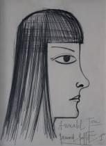 Bernard Buffet, Annabel, dessin