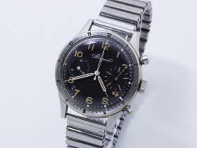 Montre chronographe acier, cadran Breguet