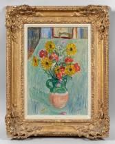 Charles Camoin,  Bouquet de fleurs de jardin, tableau