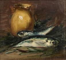 Charles Camoin, nature morte aux poissons, vente aux enchères