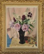 Charles Kvapil, fleurs, tableau