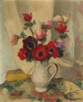 Charles Kvapil, bouquet de fleurs, tableau