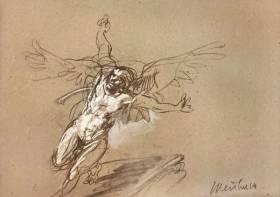 Claude Weisbuch, l'ange, dessin