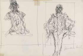 Claude Weisbuch, étude de portraits, dessins
