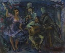 Pedro Creixams, scène de cabaret, tableau