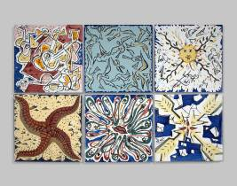 Salvador Dali, carreaux de céramique