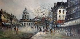 R.Davey, un après midi à Paris, tableau