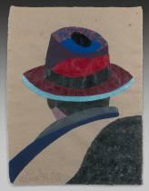 Eduardo Arroyo, Faust, acrylique sur papier