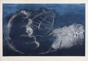 Jean Fautrier, Femme dans la nuit, gravure
