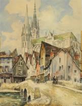 Frank Will, Chartres, Aquarelle