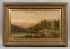 George Cole, paysage animé, tableau