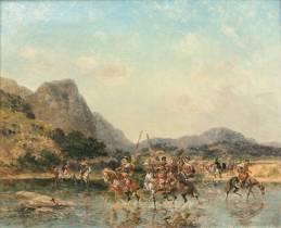 Georges Washington, cavaliers, tableau