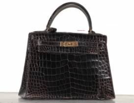 Hermes, sac Kelly crocodile, vintage