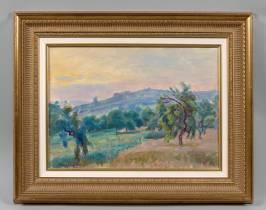 Henri Pailler, paysage du Midi, tableau