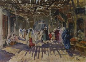 Henri Pontoy, Scène de souk, tableau